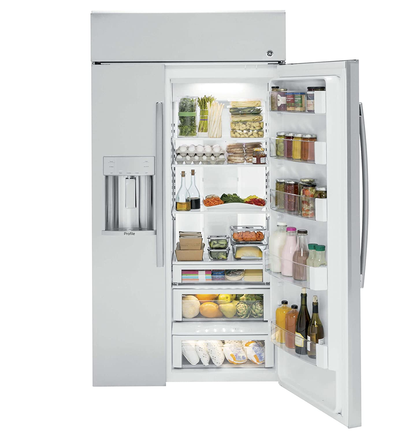 Amazon.com: GE PSB42YSKSS Profile 24.3 Cu. Ft. Stainless Steel Counter  Depth Built-In Side-By-Side Refrigerator: Appliances