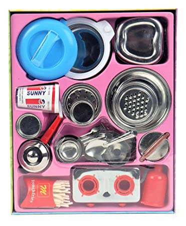 Buy Sunnytoyz Chotu Toy Stainless Steel Kitchen Set Online At Low