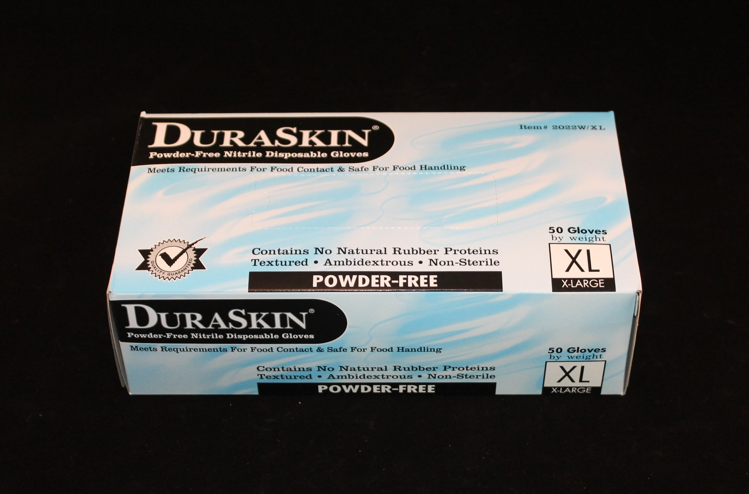12'' 8 mil Blue Nitrile Food Gloves, PF, 500/case (Extra Large) by DuraSkin (Image #3)