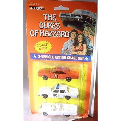 Dukes of Hazzard Hazzard County Car Set General Lee, Boss Hogg, Daisy: Toys & Games