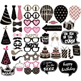 PBPBOX Birthday Photo Booth Props Party Favor Kit – 41 Count