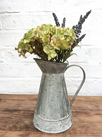 Home Décor Metal Zinc Flower Pitcher Jug Wedding Table Vase ... on zinc desk, zinc basket, zinc patina, zinc dog, zinc metal, zinc car, zinc chest, zinc table,