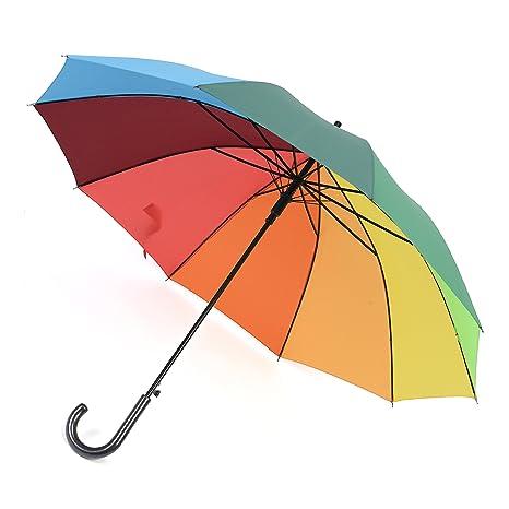 Paraguas Rainbrace-Arco Iris Multicolor, Super Antiviento, Grande de Golf Unisex al Aire