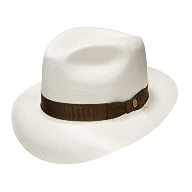 8d1a3c9d72ed15 Stetson Ibarra Panama Fedora-Bleached-7_34 at Amazon Men's Clothing store: