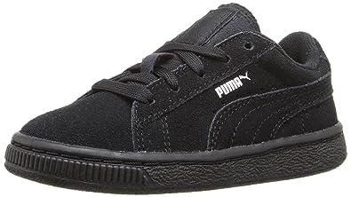 877e5401452b PUMA Boys Suede Kids Sneaker Black Silver