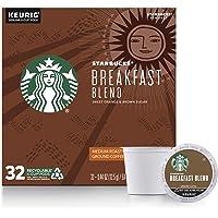 Starbucks Medium Roast K-Cup Coffee Pods Breakfast Blend for Keurig Brewers ,32 Count (Pack of 1)