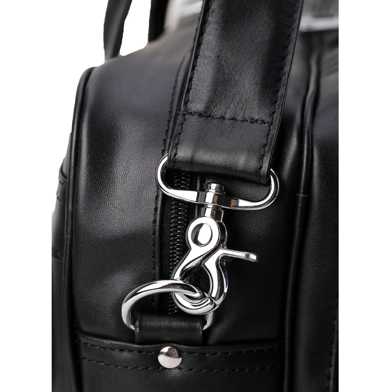 Polare Men's Real Leather Professional 17.7'' Briefcase Shoulder Messenger Business Bag by Polare (Image #8)