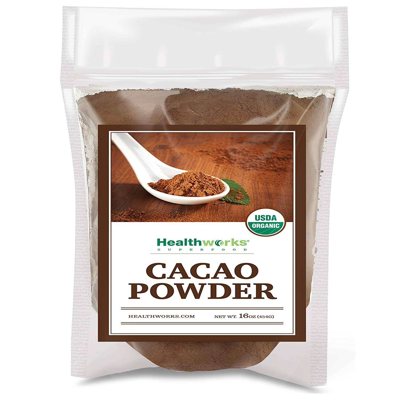 Healthworks Cacao Powder (16 Ounces / 1 Pound) | Cocoa Chocolate Substitute | Certified Organic | Sugar-Free, Keto, Vegan & Non-GMO | Peruvian Bean/Nut Origin | Antioxidant Superfood