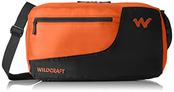 6f7ac4b4e9 Image Unavailable. Image not available for. Colour  Wildcraft Nylon 30 inch Orange  packable travel Duffle ...