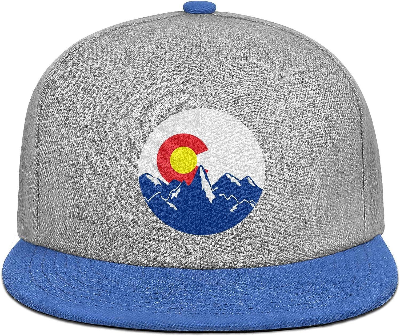 FYFYOK Mens Womens Baseball Hats Colorado Mountain Logo Snapback Printed Caps