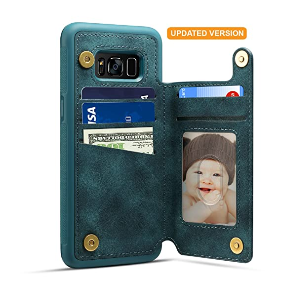 release date: 19fc4 383c0 Samsung Galaxy S8 Plus Card Holder Case, Galaxy S8 Plus Wallet Case  Spaysi(TM) Slim, Galaxy S8 Plus Folio Leather case 2017, Gift Box, for  Galaxy 8 ...