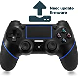 PS4 Controller, TONSUM Bluetooth Gamepad Six Axies Wireless Controller for PS4, Touch Panel Joypad with Dual Vibration,Instantly Timely Manner To Share Joystick NEED FIRMWARE UPDATE