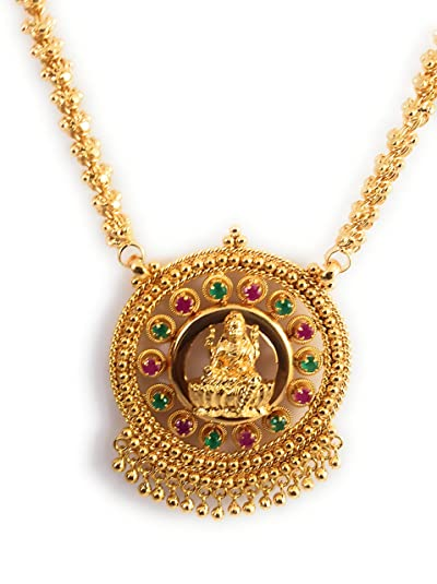 AFJ GOLD 1 Gram Micro Gold Plated Traditional Designer Fashion Jewellery  Daily Wear Dollar Chain for Women & Girls
