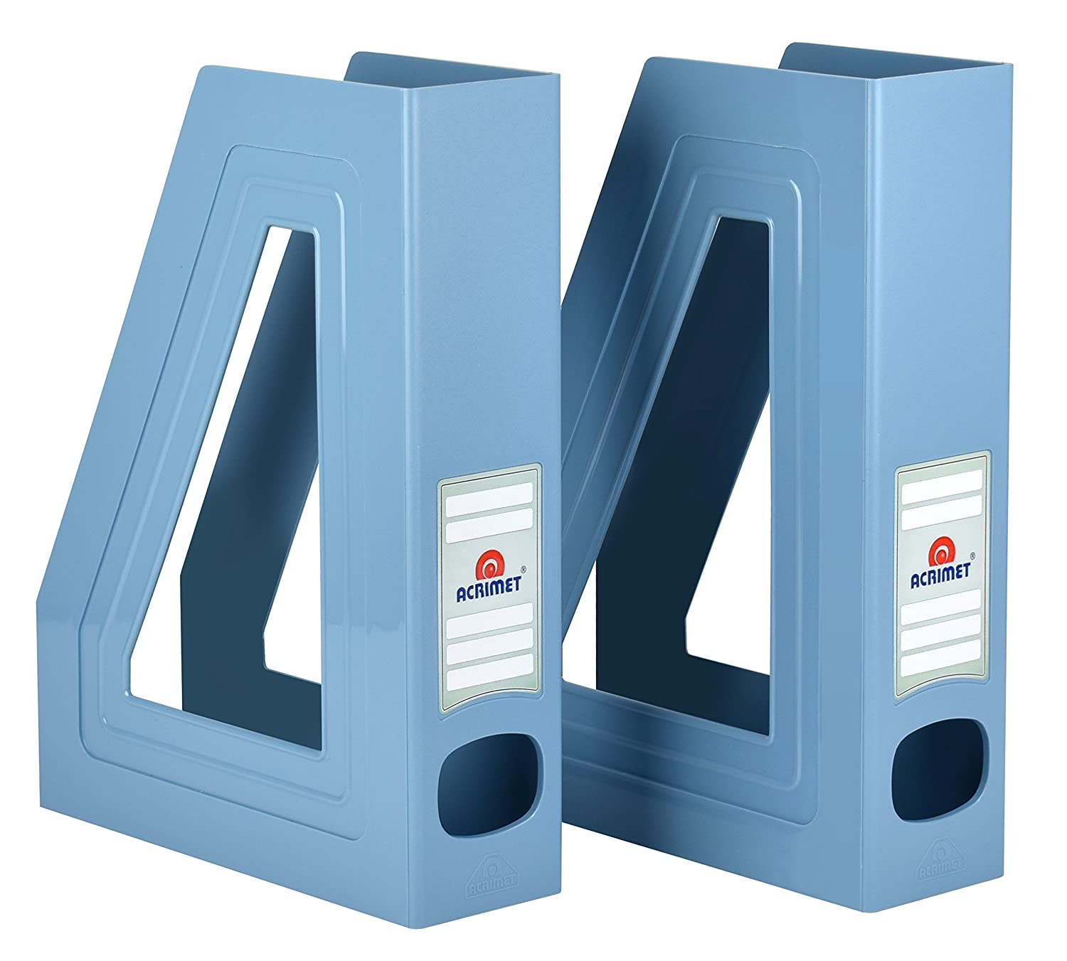 Acrimet Magazine File Holder (Light Blue Color) (2 Pack) 277.A.O