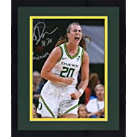 "$76 » Framed Sabrina Ionescu Oregon Ducks Autographed 8"" x 10"" Yelling Celebration Photograph with""20 Naismith"" Inscription…"