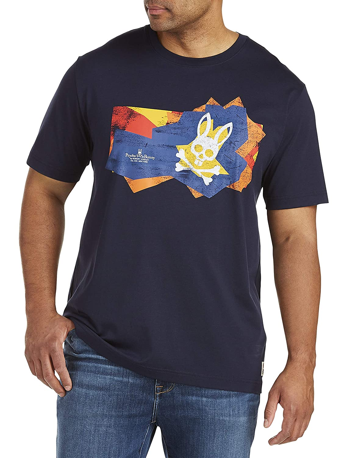 Psycho Bunny Big and Tall Square Bunny Graphic Tee
