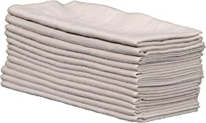 """Home Goods Cloth Napkins Set of 12, Cotton Linen Dinner Napkins, Soft Washable Table Napkins for Fall Christmas Parties Holiday Farmhouse Décor, 18""""x 18"""" -Natural"""