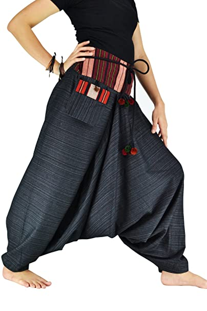 8ceb59d0b87 Bjelly Traditional Loose Harem Cotton Pant Unisex (Black)  Amazon.ca ...
