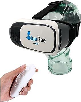 BlueBee Gafas VR + Mando a distancia (Realidad Virtual Genuine 3D ...