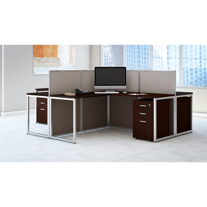 Amazon Easy fice 60W 4 Person L Shaped Desk Open fice with