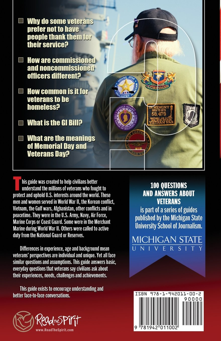 100 Questions and Answers About Veterans: A Guide for Civilians: Michigan  State School of Journalism, Ron Capps, J. R. Martinez: 9781942011002:  Amazon.com: ...