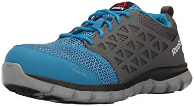 767cea04f Reebok Work Sublite Cushion Work RB044 Industrial and Construction Shoe,  Blue/Grey, 6