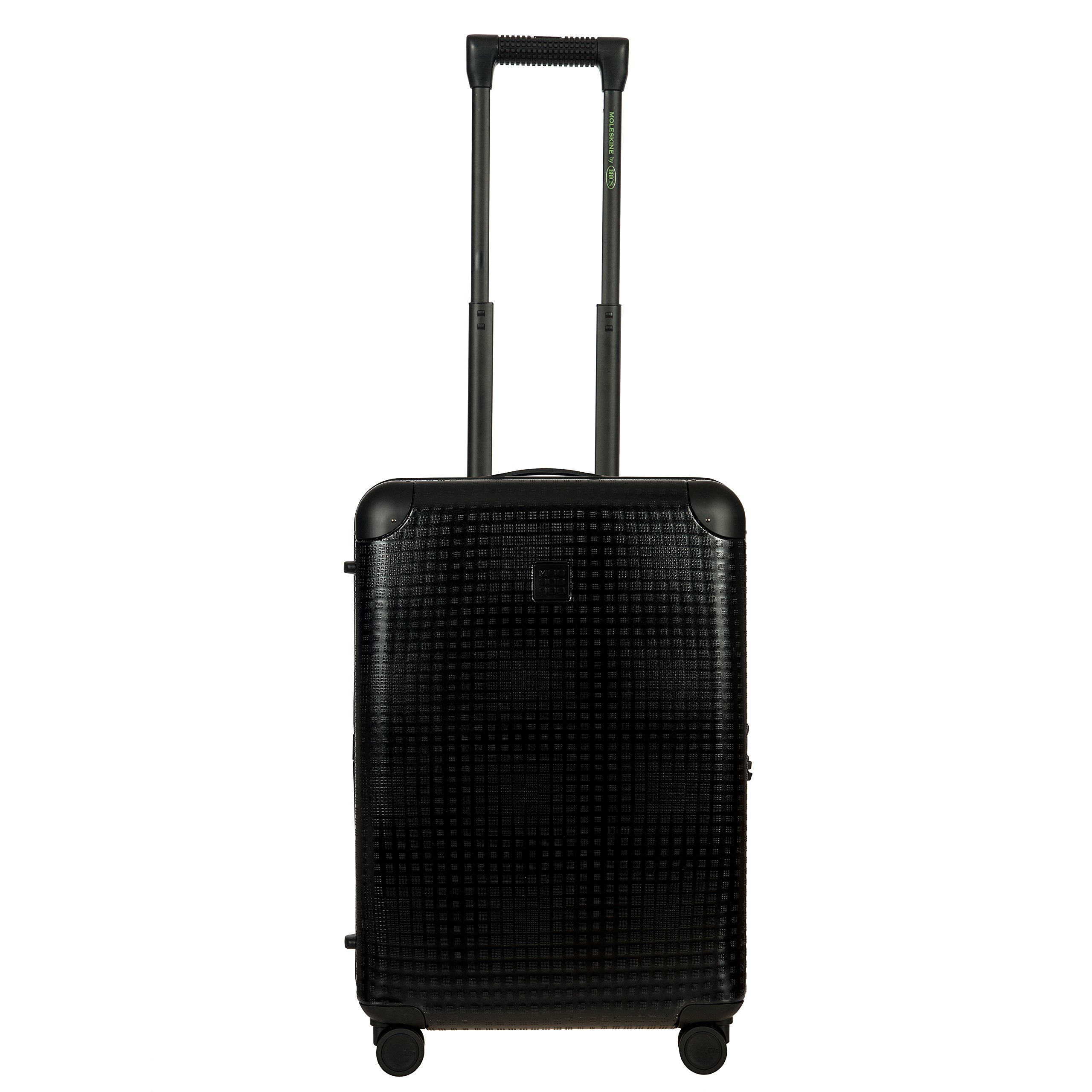 Bric's Men's Moleskine 21 inch International Carry on Polycarbonate Spinner Trunk Hard Case, Black by Bric's