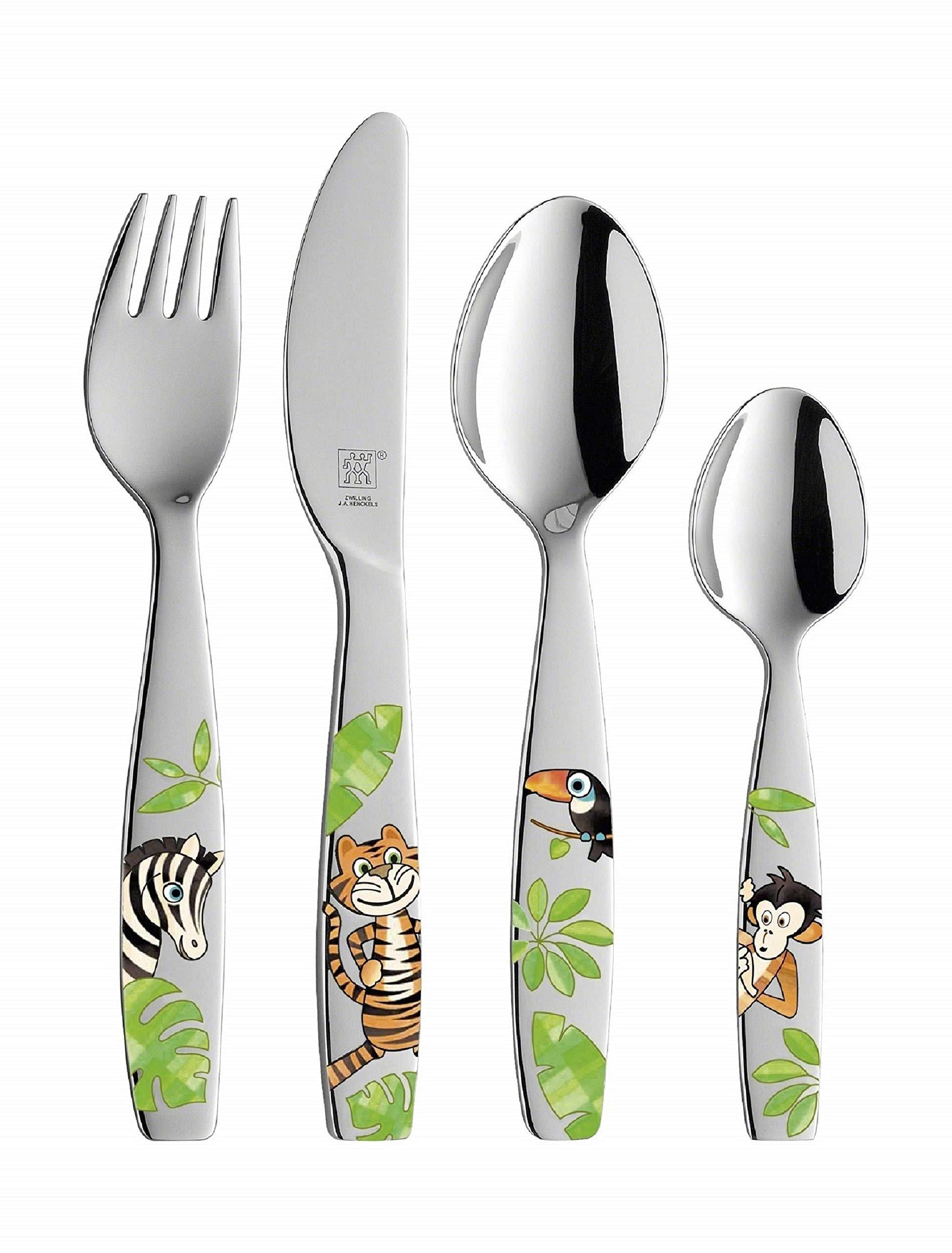 Zwilling Jungle - Juego cubertería infantil, 4 piezas con esmalte, acero inoxidable product image