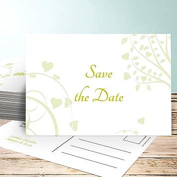 Save The Date Hochzeitskarten Gruner Baum 110 Karten Horizontal
