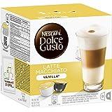 Nescafé Dolce Gusto Latte Macchiato Vanilla Kaffeekapseln (Feinster Vanille Geschmack und Milchschaum, Kräftiger Espresso, Blitzschnelle Zubereitung) 3er Pack (48 Kapseln)