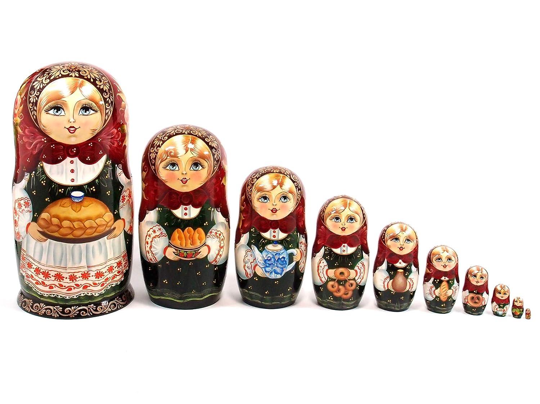 【驚きの値段で】 作家 マトリョーシカ 10個組 26cm [ロシア製 「ロシアンティータイム」 タチアナソコロワ 作家 作 [ロシア製 作家マトリョーシカ] 10個組 B07GSRVWVC, キンポウチョウ:85eb8474 --- arianechie.dominiotemporario.com