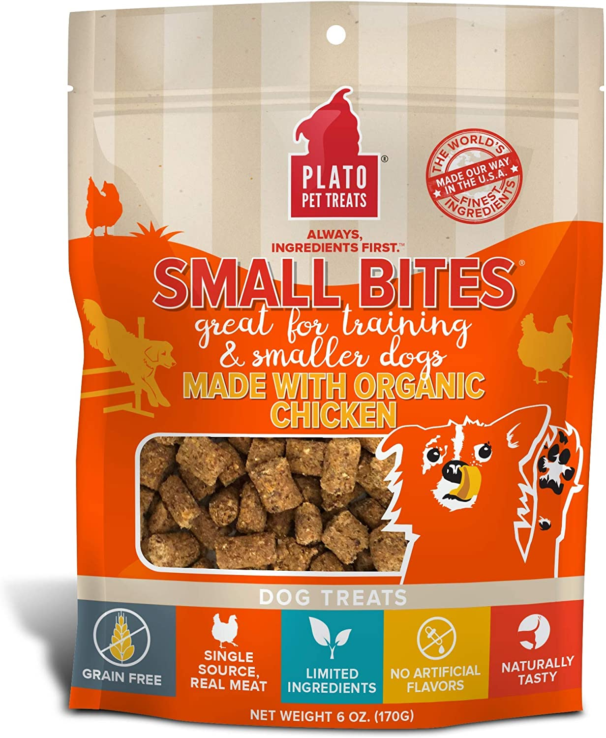 Plato Small Bites, Meaty Morsel Dog Treats, It's the Small Things in Life that Matter