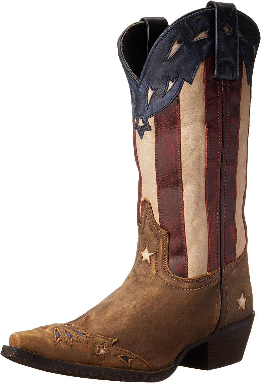 Laredo Womens Keyes Western Cowboy Boots Mid Calf Low Heel 1-1 3/4