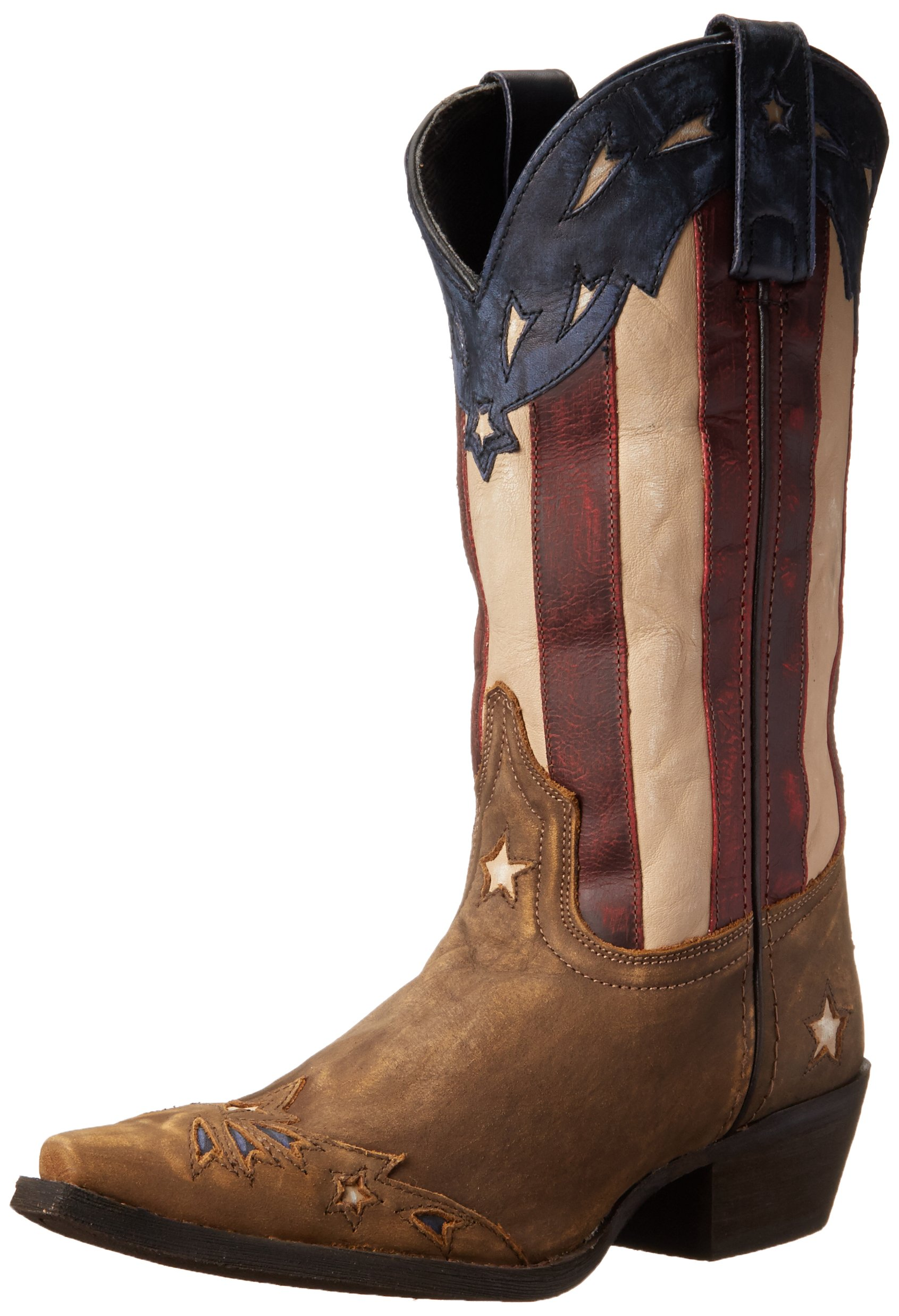 Laredo Women's Keyes Western Boot, Tan/Multi, 8 M US