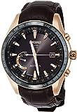 [セイコーウォッチ] 腕時計 アストロン GPSソーラー電波 ワールドタイム機能 チタンモデル ダークブラウン文字盤 クロコダイル革バンド SBXB096 メンズ ブラウン
