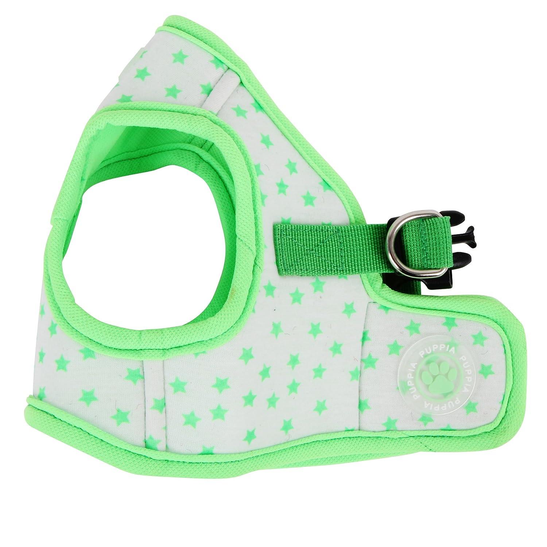 Puppia Authentic Cosmic Vest Harness B X-Small Green