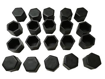 Qungotech - SW19 - 20 tapones de silicona para válvulas de rueda, ancho de llave 19, resistentes, varios colores: Amazon.es: Coche y moto