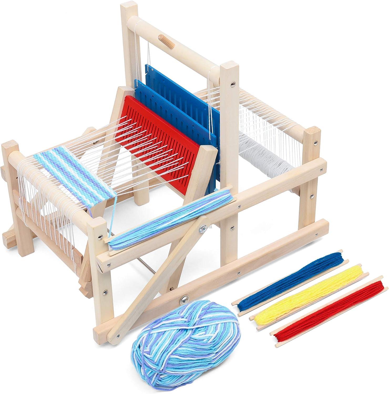 Intermediate weaving loom -- teaching kids sewing