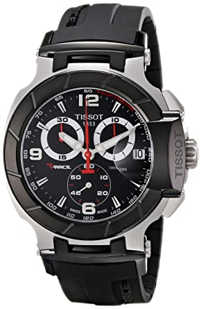 92d17065dd6 Amazon.com  Tissot Men s T0484172705700 T-Race Black Chronograph ...