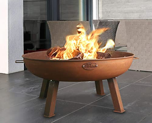 Artestia fire pit outdoor,Round Steel Fire Pit