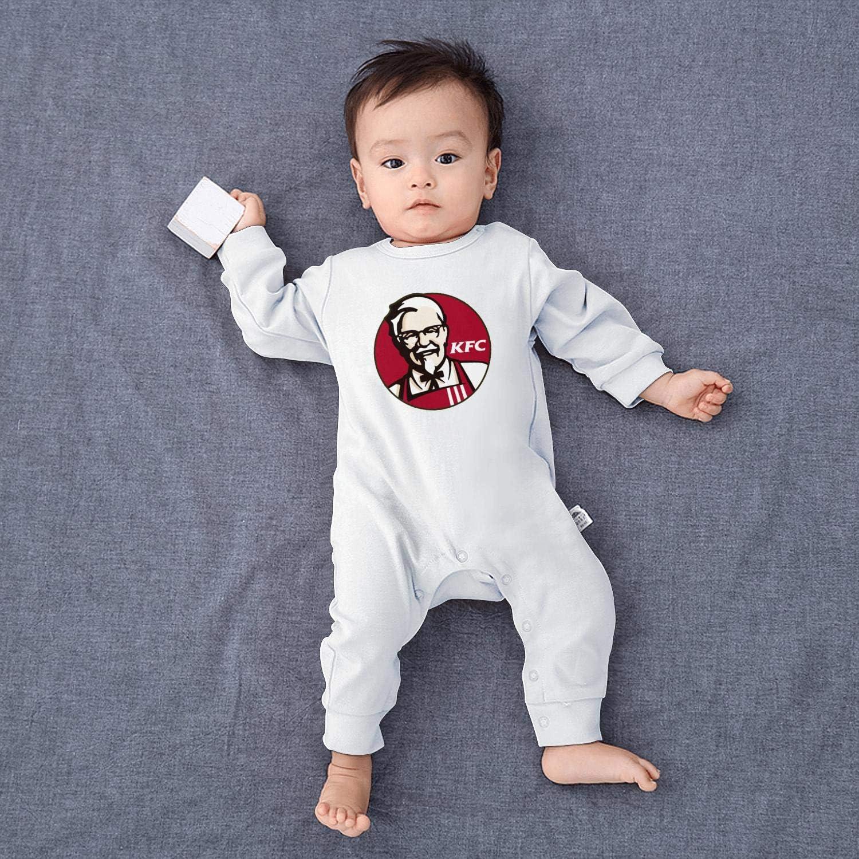 chenhou Newborn Infant Baby Girls Boys KFC Logo Blue Active Bodysuit Footies Romper Overalls