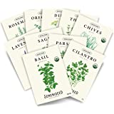 Sereniseed Certified Organic Herb Seed Collection (10-Pack) – 100% Non GMO, Open Pollinated, Heirloom Varieties, 2021 Packs –
