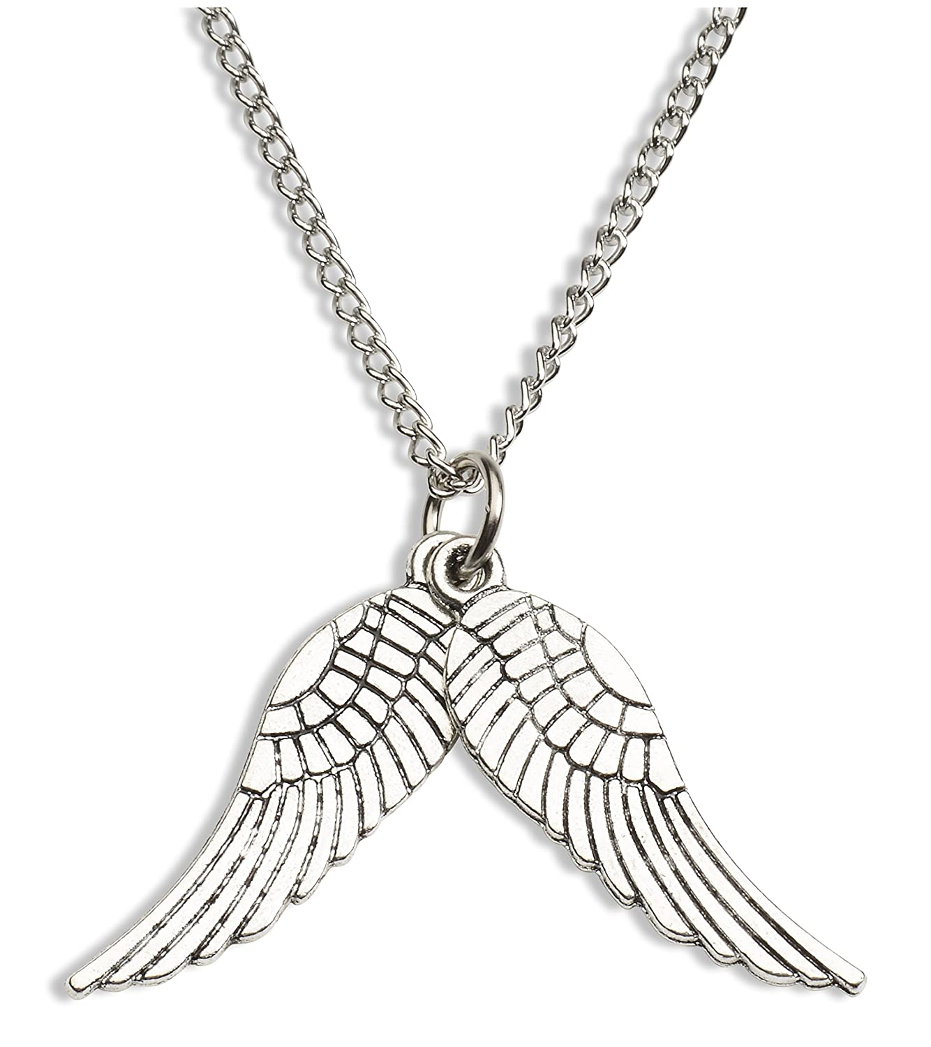 amazon com supernatural inspired castiel wings pendant costume