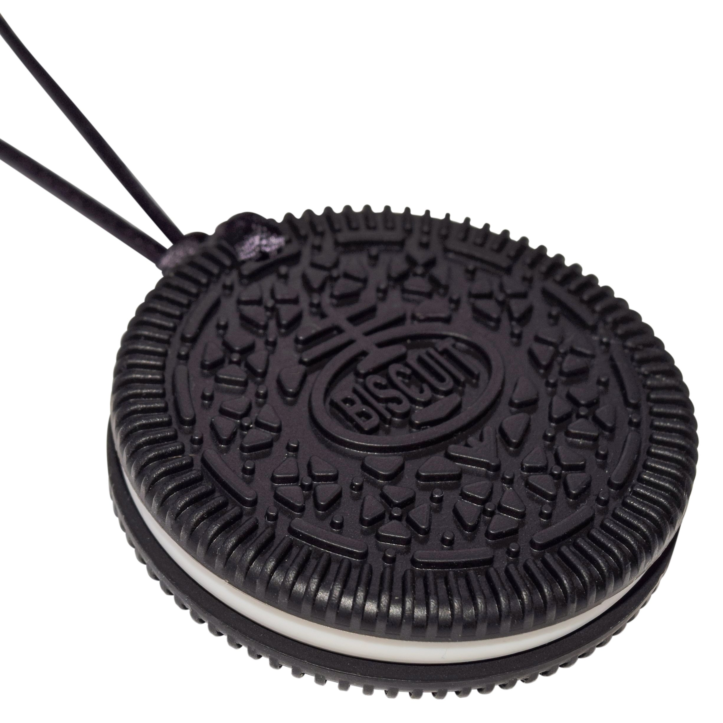 Sensory Oral Motor Aide Chewelry Necklace - Munchables Biscuit Chewy (Black)