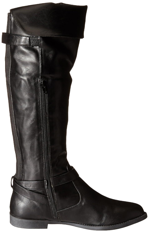 Bella Vita RomyII Rund Kunstleder Kunstleder Rund Mode-Knie hoch Stiefel schwarz 427e37