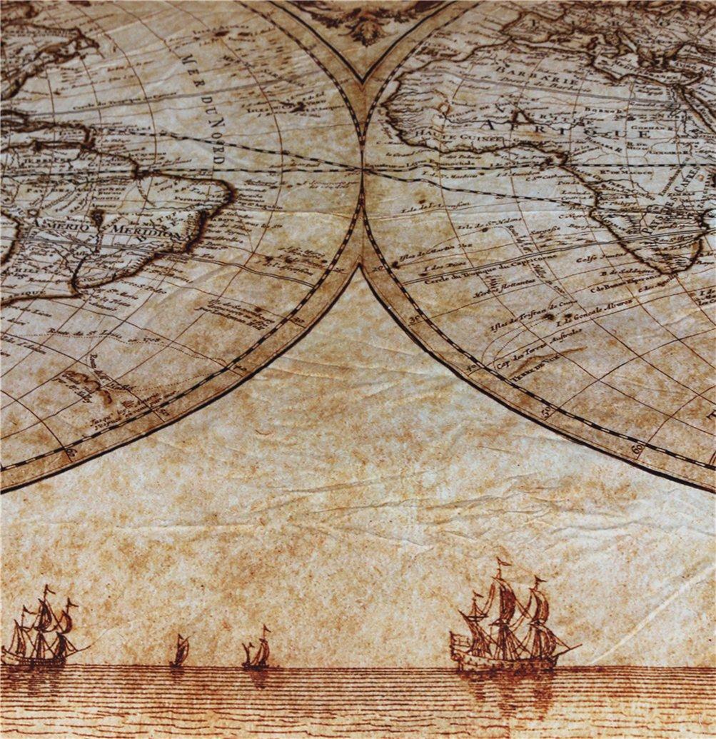 HD-Dreamer Mappa Del Mondo Set Di Biancheria Da Letto Lenzuola 3 Pezzi 1*Copripiumino 2*Federezi Matrimoniale Pieno Regina Re Dimensione Contemporaneo,173*218Cm 100/% Poliestere