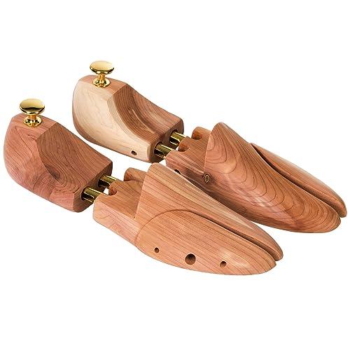 TecTake Hormas para zapato cedro de madera extensor de zapato forma calzado - varias tamaños - (46-48 YUows