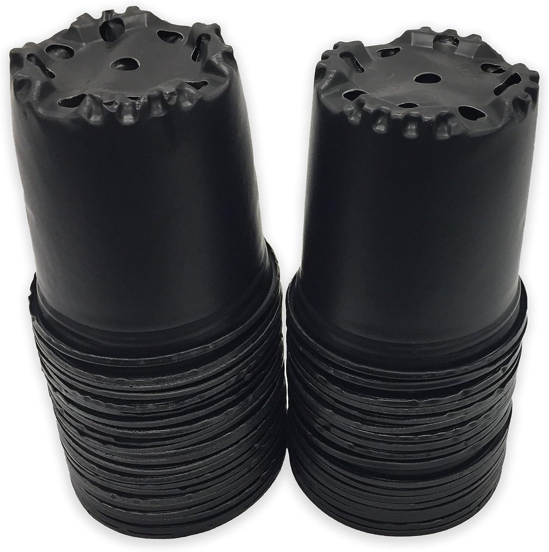 Viagrow ½ Gal Plastic Nursery Pots ( .62 gal / 2.5qts / 2.37 Liters) 50/pack