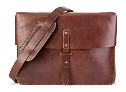 Image Unavailable. Image not available for. Color  Full Grain Leather  Messenger Bag   Laptop Satchel by Jackson Wayne (Vintage Brown) 680a514520d32