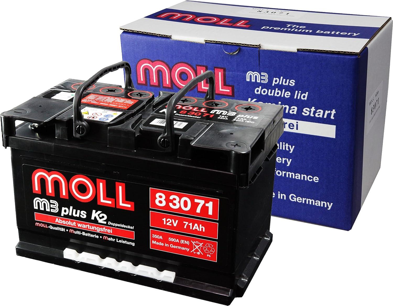 MOLL [ モル ] 輸入車バッテリー [ m3 plus ] MOLL 83071 B004QDSES2